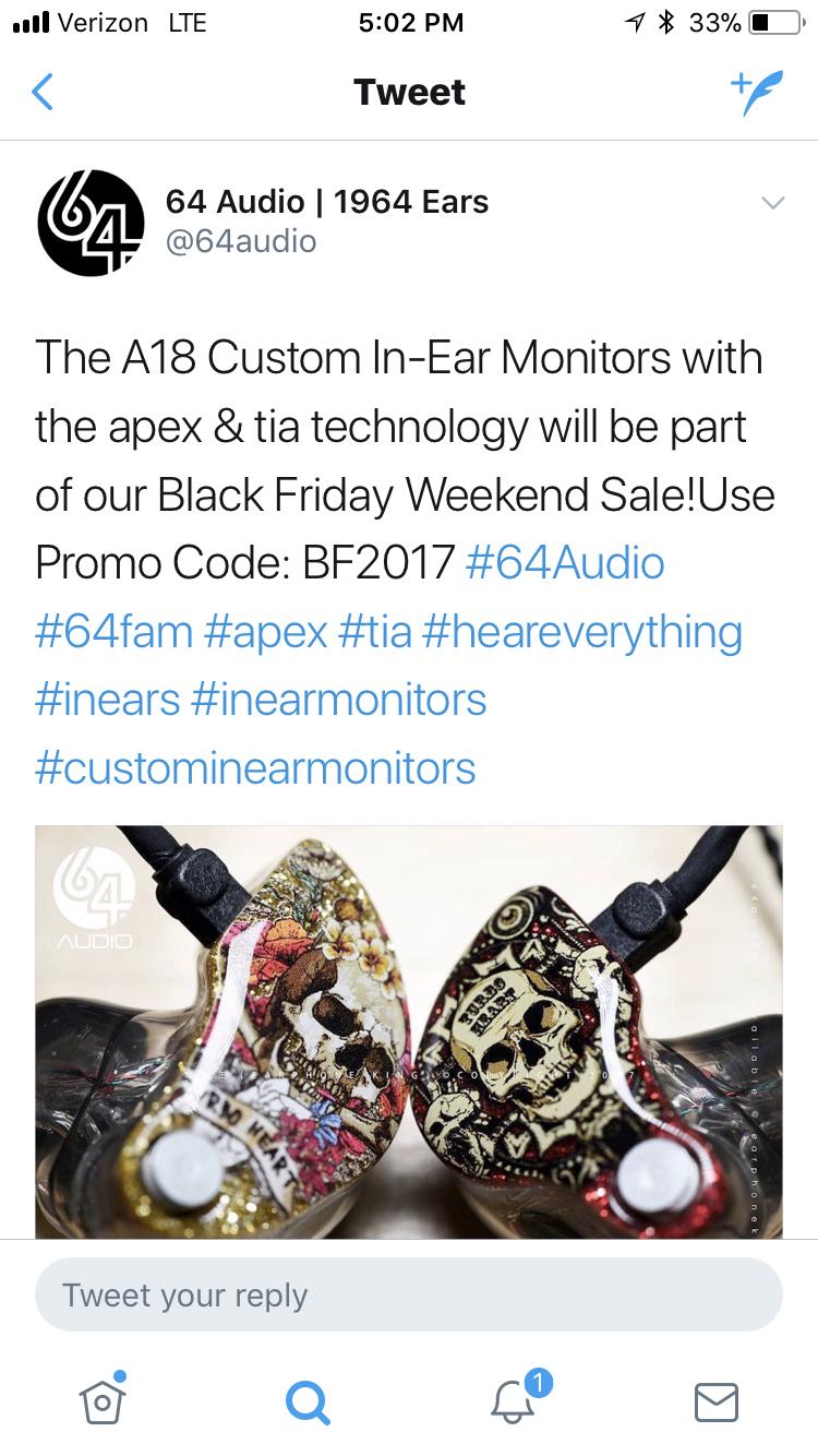 64 Audio Apex Tia