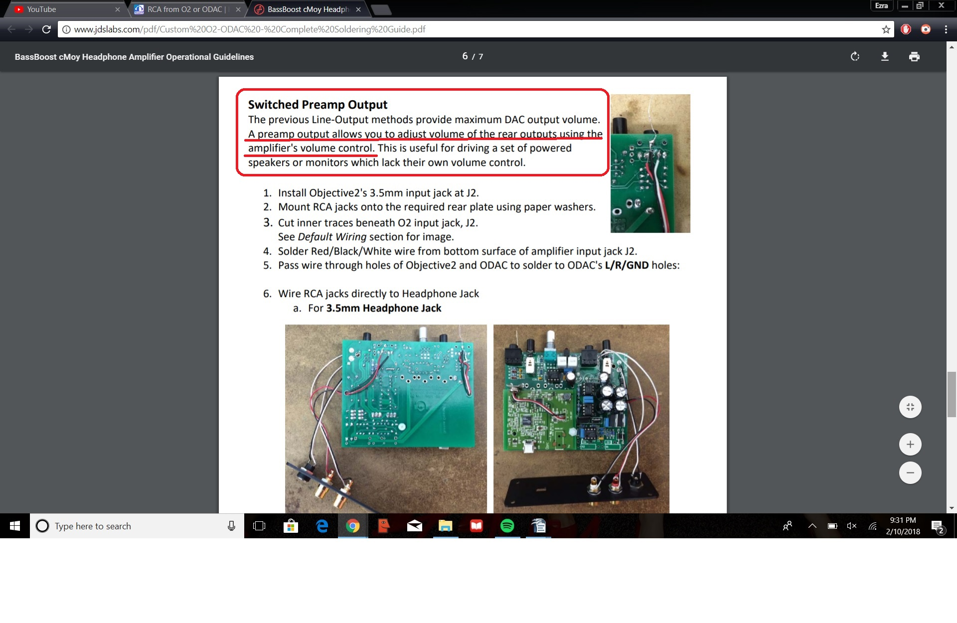 Rca From O2 Or Odac Headphone Reviews And Discussion 1 4 Input Jack Wiring Mod Guide
