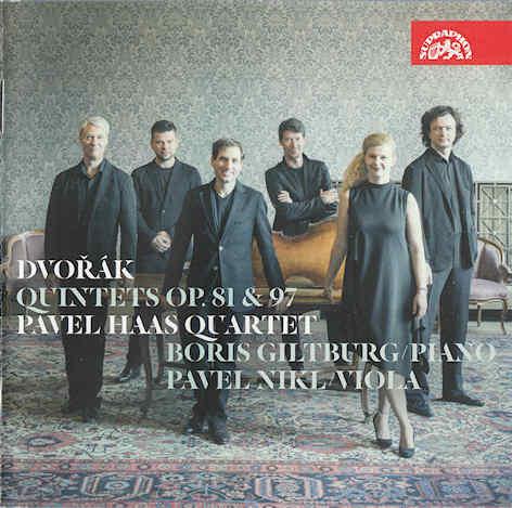 Pavel Haas Quartet, Giltburg, Niki - Dvorák- Quintets, Op. 81 & 97 - Front small.jpg