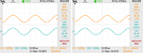 Combined - 1k sine at -6 dB, no load and 16 ohms both channels.png