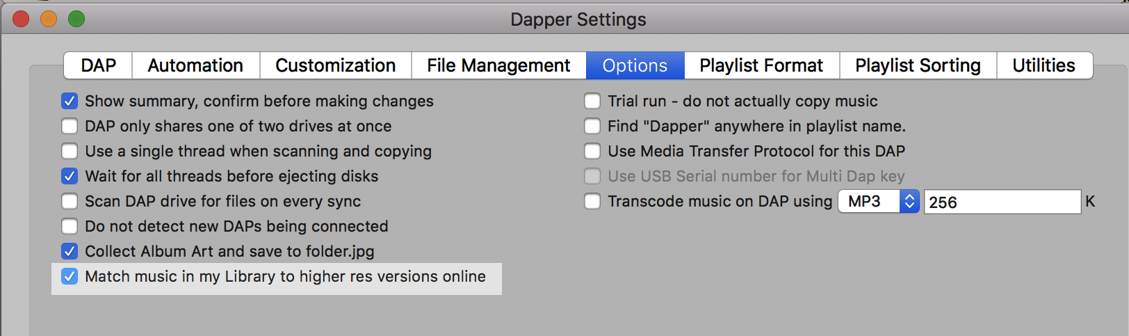 Dapper for Mac updates: App to sync iTunes with your DAP