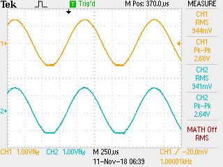 Scope screenshot - 0 dBFS, both channel into 16 ohms.png