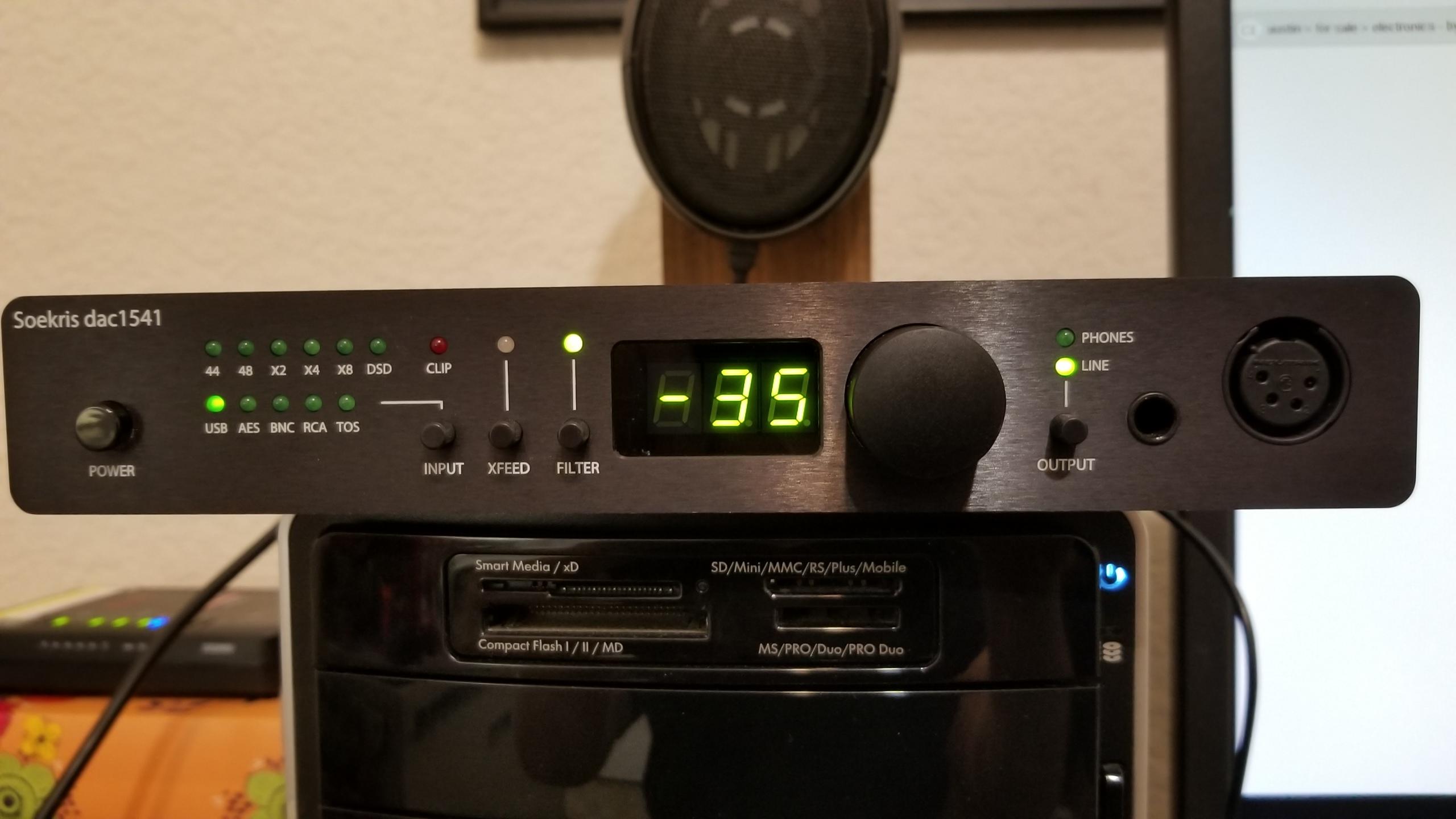 Soekris DAC1541 DSD DAC / head amp / preamplifier
