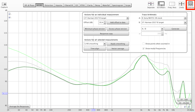 REW screenshot for generating compensated graphs.png