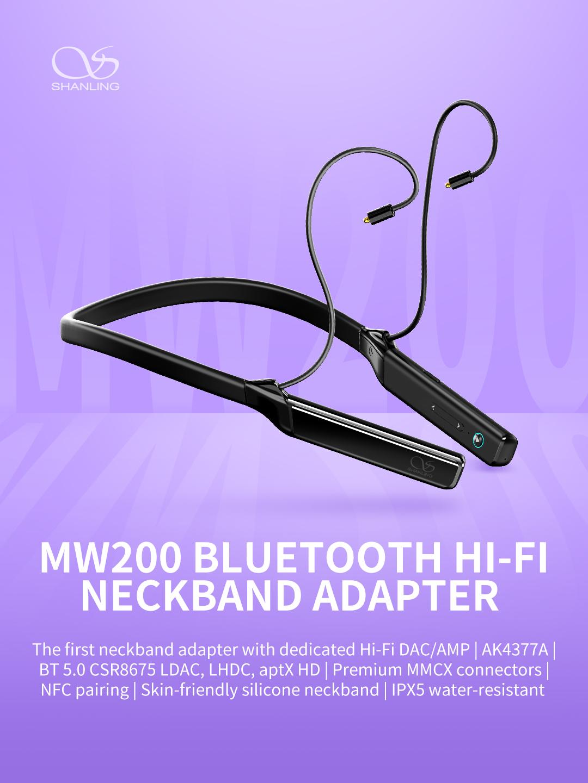 Shanling MW200 Bluetooth neckband adapter - BT 5 0 , AK4377A