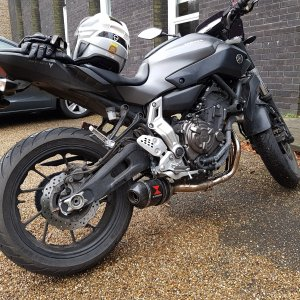 Yamaha MT-07 with Black Widow exhaust