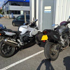 BMW K1300S with Yamaha MT-07