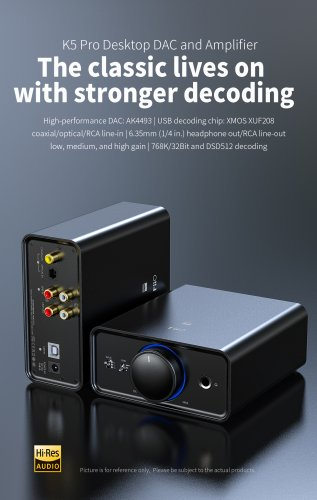 FiiO K5 Pro Desktop DAC and Amplifier The classic lives on with stronger decoding