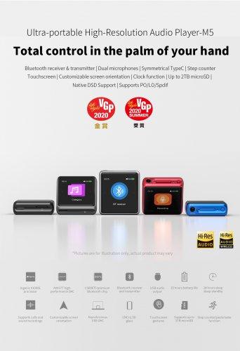 FiiO M5 Ultra-portable High-Resolution Audio Player