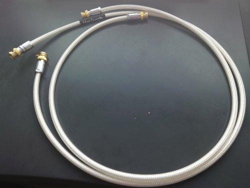 Pair of Pure Silver Oyaide DB-510 digital coax BNC-BNC cable 1 Meter