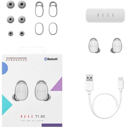 FIIL T1XS Ceramic White True Wireless TWS Bluetooth In-Ear Earbuds