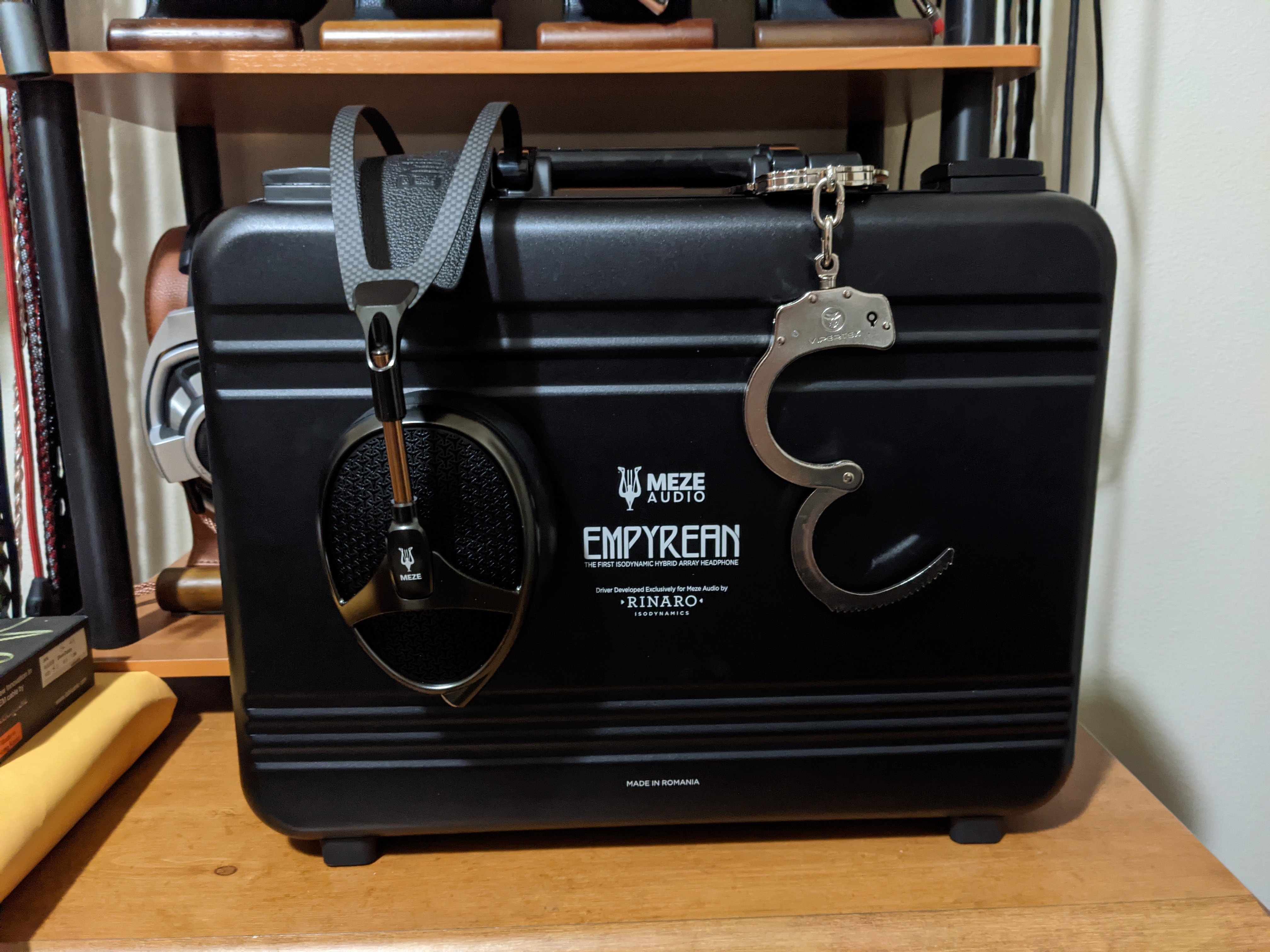 Meze Empyrean attache case with optional handcuffs