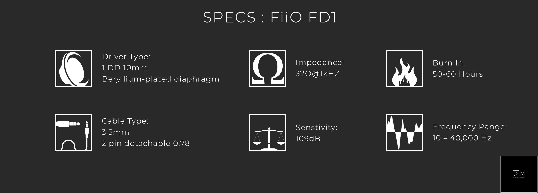 Spec Sheet_FiiO FD1