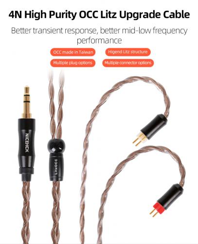 NiceHCK LitzOCC IEM cables