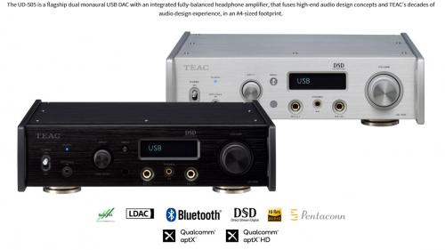 TEAC UD-505 Desktop Dual monaural USB DAC/headphone amplifier