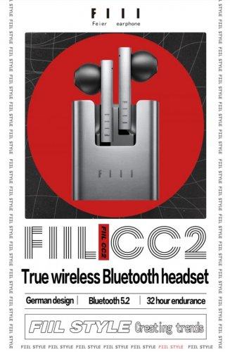 FIIL CC2 Bluetooth 5.2 AAC Semi-in-ear TWS