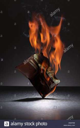 a-brown-leather-wallet-filled-with-credit-cards-and-money-on-fire-DNHPAB.jpg