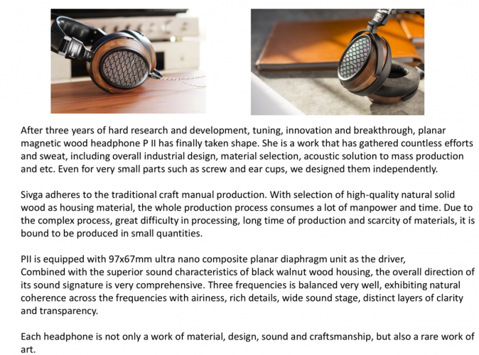 Sivga P-II Planar Magnetic Over-ear Open-back Wood Headphone
