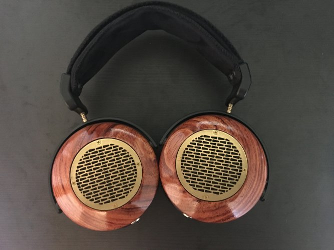 SOLD ZMF Aeolus Bubinga Wood with 2K Copper Cable and Kattalox Salire Stand