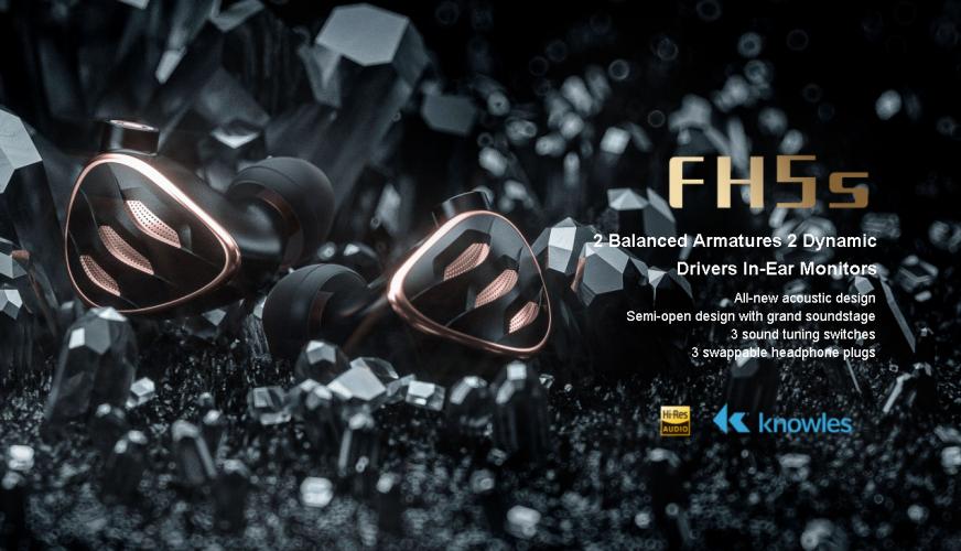 FiiO FH5S - All new 2 Dynamic Drivers 2 Balanced Armatures In-Ear Monitor