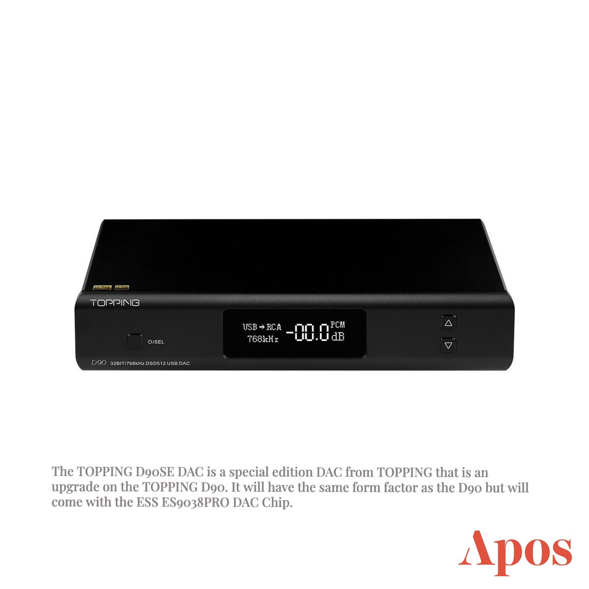 Coming in June 2021: TOPPING D90SE DAC on Apos Audio
