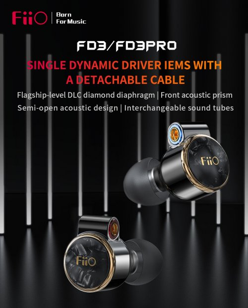 FiiO FD3/FD3 Pro Single Dynamic Driver Iems with a detachable cable