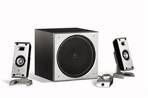 87568919fa2 Logitech Z-3e Premium 3-Piece Computer Speaker System (Black ...