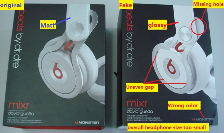 Beware of fake Beats Mixr headphone   Headphone Reviews and ...