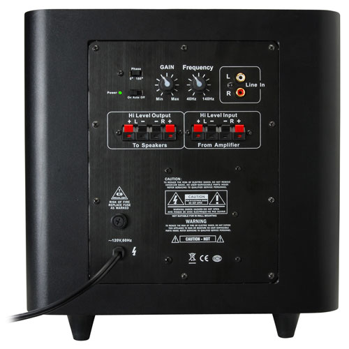 How do you connect a subwoofer to an amplifier