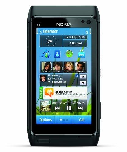 Nokia N8 Unlocked GSM Touchscreen Phone Featuring GPS with Voice Navigation and 12 MP Camera--U.S. Version with Warranty (Gray)