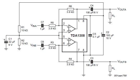 tda1308 amp circuit