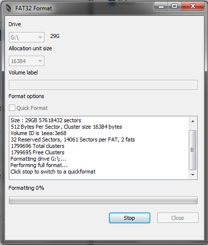 Can't format my Sandisk 64GB SDXC microSD past 27 4GB