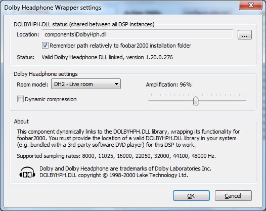 Foobar2000 Dolby Headphone config - Comment & discuss