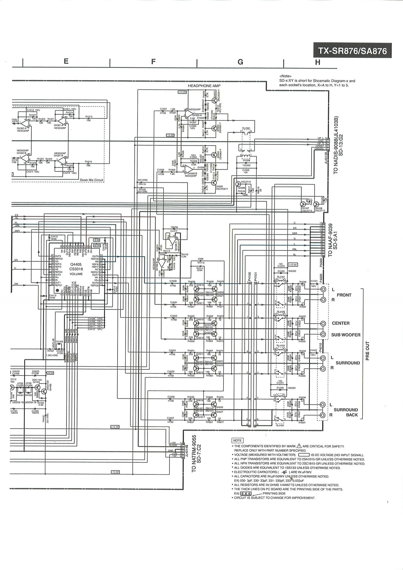 Analysis Of A Receivers Opamp Based Circuit Headphone Reviews And Audio Mixer Diagram With Ne5532 Onkyoheadphonejackampcircuit