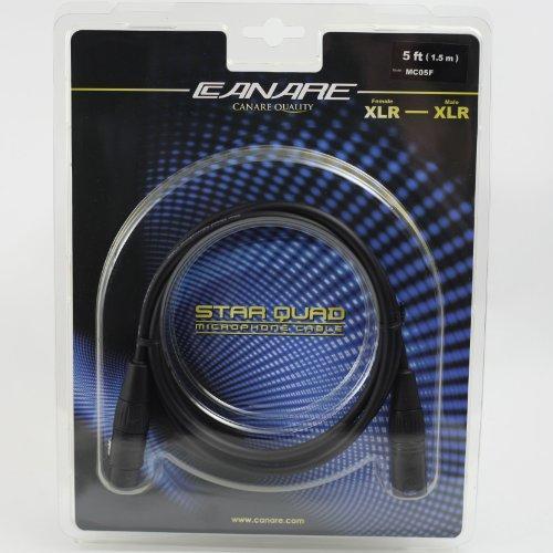 Canare L4E6S Star Quad Microphone (Balanced Audio) Cable, XLR Male to XLR Female, 5 Feet