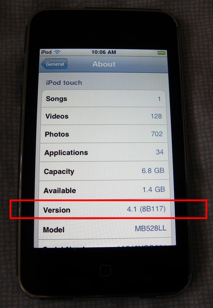 Updating an ipod touch 2nd generation
