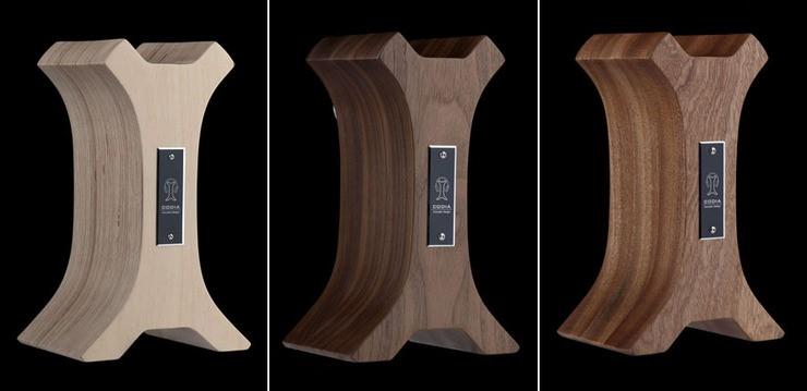Headphone Stand Designs : Codia acoustic design headphone stand walnut headphone reviews