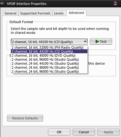 Windows sample rate setting | Headphone Reviews and Discussion