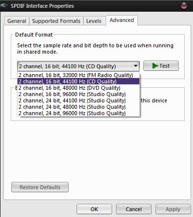 Windows sample rate setting   Headphone Reviews and