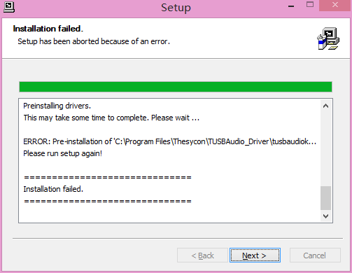 Instructions regarding the installation of USB DAC driver on