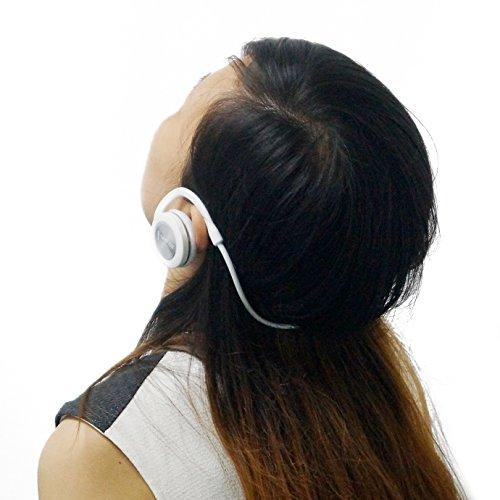 Neojdx Aktiv Bluetooth 4.0 Sports Stereo Headphone with APTX and AAC; Supports Hands-free Calling; Free Carrying Pouch and Extra Ear Pad - White