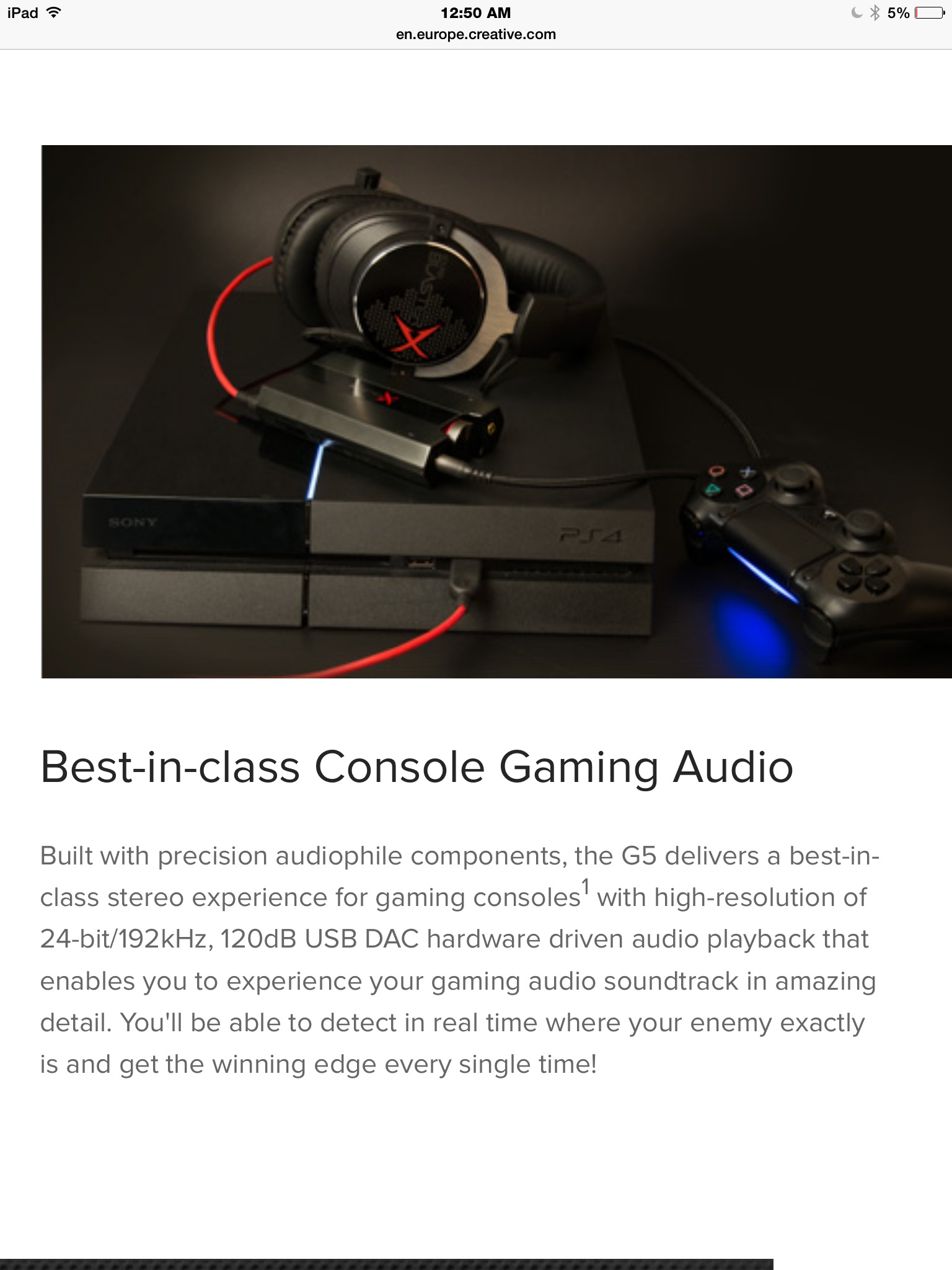 Creative G5 discussion and reviews   Headphone Reviews and