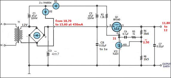 interesting mosfet voltage regulator
