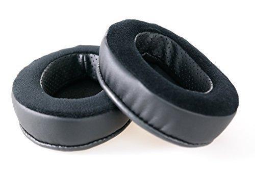 Brainwavz Hybrid Memory Foam Earpad - Black PU/Velour - Suitable For Large Over The Ear Headphones