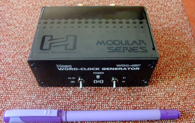 Hosa wdc-627 word clock generator - for soundcard