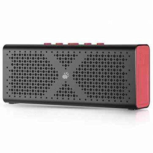 BlitzWolf® F1 Bluetooth 4.0 Wireless 1800mah Aux-in Hands Free Calls Supported Pocket Speaker, Bluetooth Pocket Speaker, Black& Red