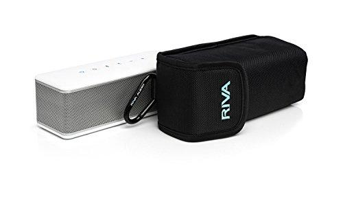 RIVA S Premium Wireless Bluetooth Speaker (White/Silver)