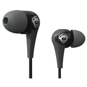 Popclik String Earphones (Gray and Black) Lightweight Sweat Proof In Ear With Microphone Control