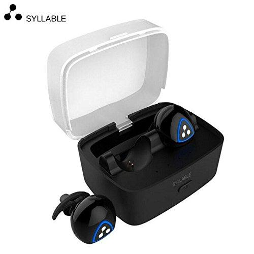 SYLLABLE D900S Mini Wireless Bluetooth Earphone Waterproof Invisible Auriculares Noise Canceling Earbuds Micro Stereo Headset (black)