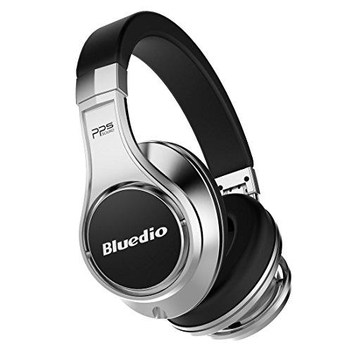 bluedio u ufo pps 8 drivers over ear bluetooth wireless headphone with mic silver and black. Black Bedroom Furniture Sets. Home Design Ideas